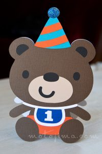 handmade card bear shape