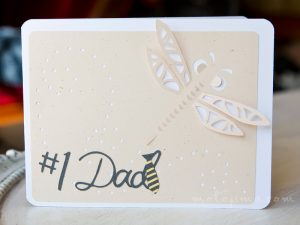 fathers day card with dragonfly