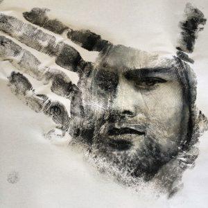 Hand print portraits