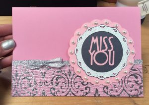 handmade card miss you