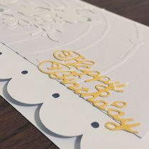 white birthday card handmade