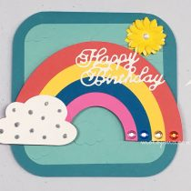 birthday card with rainbow