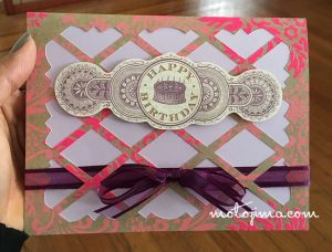 pink lattus birthday card