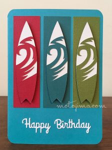 birthday card surfboards