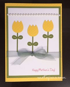 Birthday card with yellow tulips