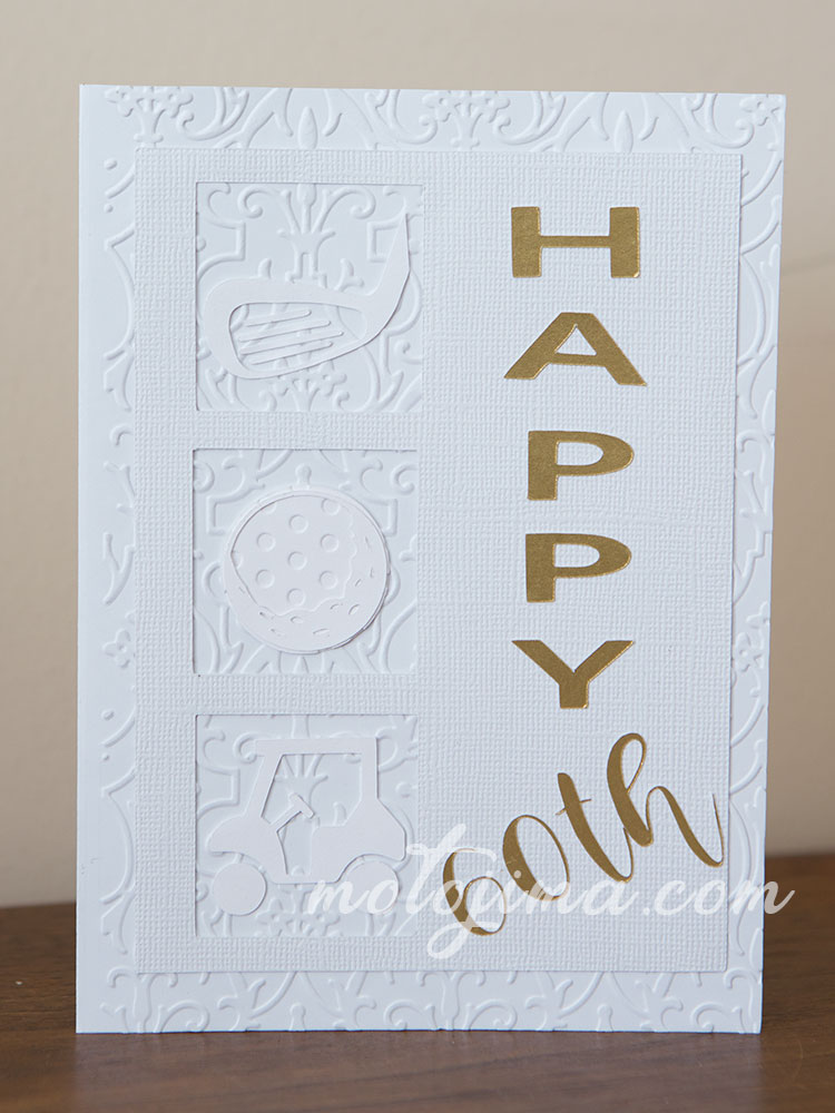 gold theme birthday card