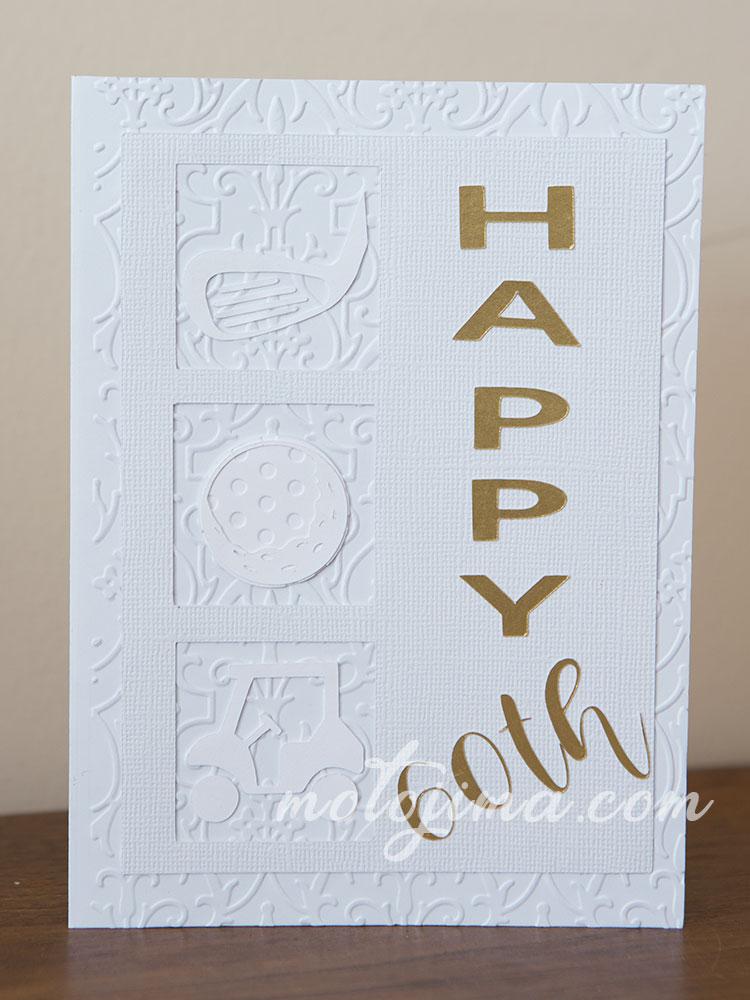 gold theme birthday card